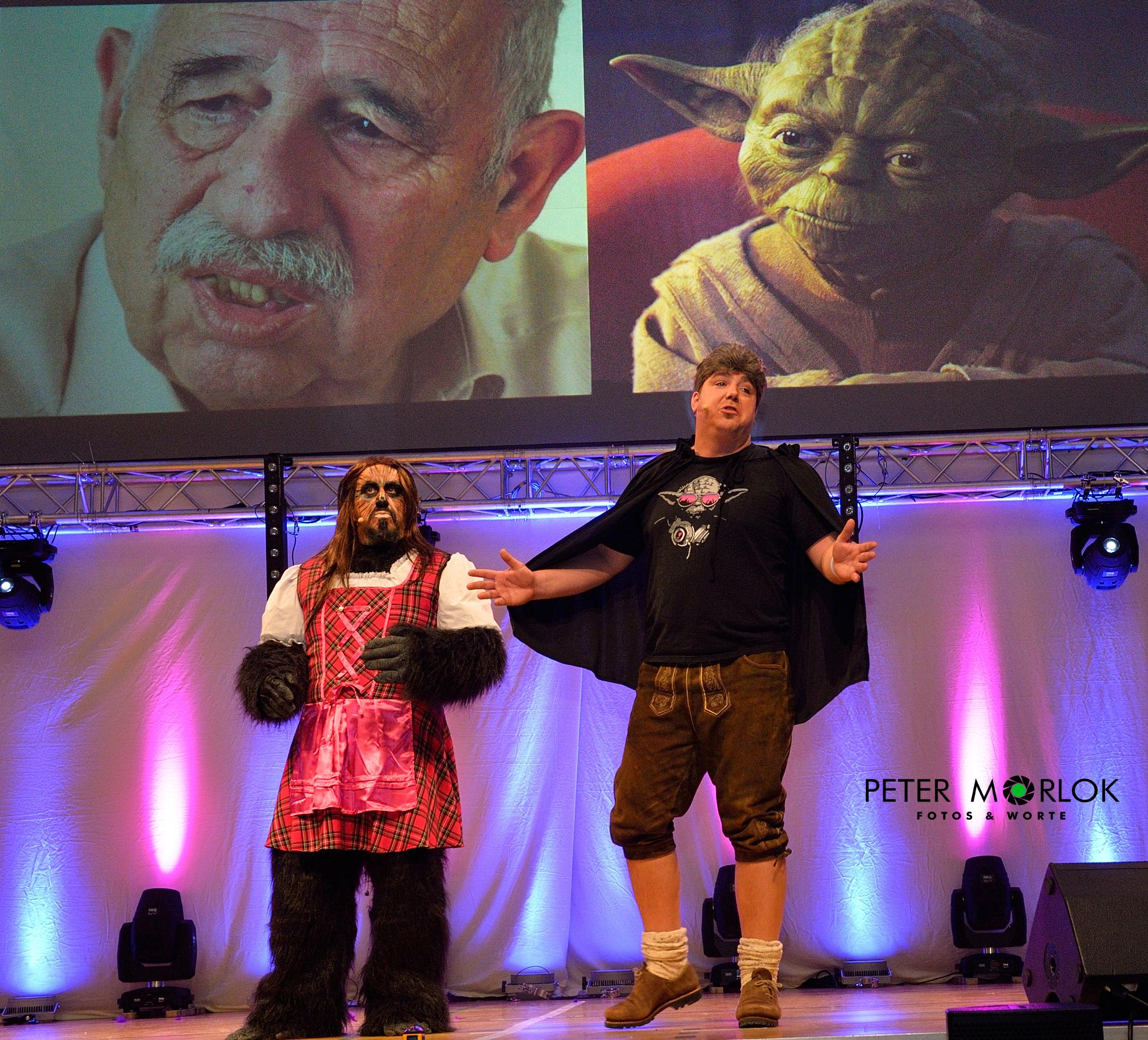 Jedi Meister Yoda und oiner, der aussieht wie er - da sta