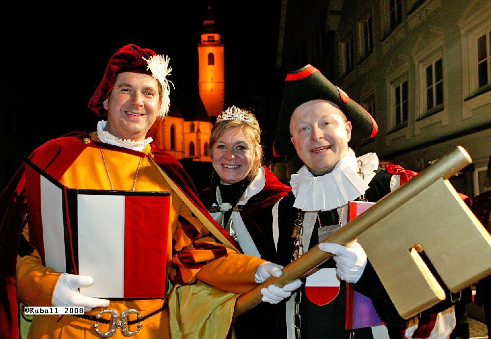Fasnet am Schmotzigen Donnerstag  Schlüsselübergabe Horb 31.1.2008. Bild: Kuball